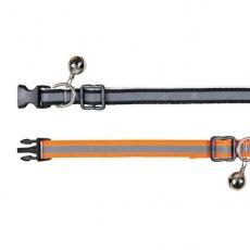 Halsband für Katzen, Reflex, orange - 15 - 20 cm