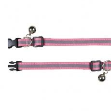 Halsband für Katzen, Reflex pink - 15 - 20 cm