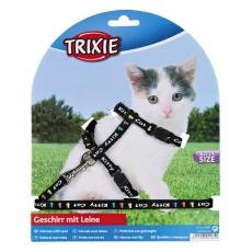 Geschirr mit Leine für Kätzchen Kitty Cat, schwarz