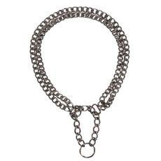 Hundehalsband - verchromt, zweireihig, 45cm/2,5mm