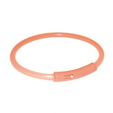 Halsband - orange, blinkend, XS
