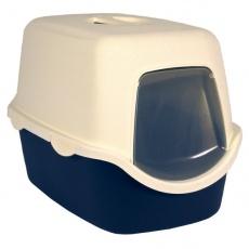 Toilette für Katzen mit einem Türchen und Halter