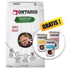 Ontario Cat Sensitive Duck & Lamb 6,5 kg