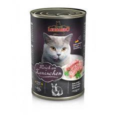 Dosenfutter für Katze Leonardo - Kaninchen 400g