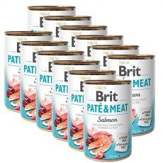 Nassfutter Brit Paté & Meat Salmon, 12 x 400 g