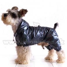 Regenjacke für Hunde zweischichtig - grauschwarz XS