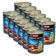 Dose GranCarno Fleisch Adult Räucheraal + Kartoffeln - 12 x 800g