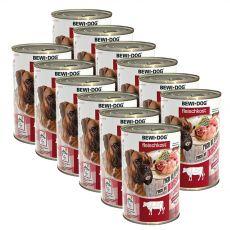 New BEWI DOG Nassfutter– Rindpansen, 12 x 400g