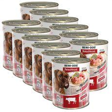 New BEWI DOG Nassfutter – Rindpansen, 12 x 800g