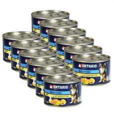 Feuchtnahrung ONTARIO Multi Fish und Lachsöl – 12 x 200g