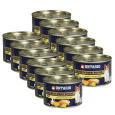 Feuchtnahrung ONTARIO Kalb mit Süßkartoffeln und Leinsamenöl – 12 x 200g