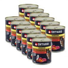 Dose ONTARIO für Hund mit Wildfleisch, Preiselbeeren und Öl a - 12 x 800g