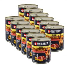 Dose ONTARIO für Hund, Rindfleisch, Kartoffeln und Öl - 12 x 800g