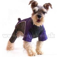 Hundeoverall - violettschwarz, XS