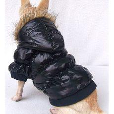 Hunde Daunenjacke - schwarz, XS