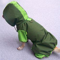 Regenmantel für Hunde - olivgrün, XS
