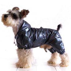 Regenjacke für Hunde zweischichtig - grauschwarz S