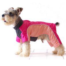 Hundeoverall - pink und lachsfarben, M