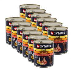 Dose ONTARIO für Hund, Lammfleisch, Reis und Öl - 12 x 800g