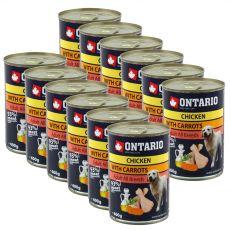 Dose ONTARIO für Hund, Huhnfleisch, Karotte und Öl- 12 x 400g