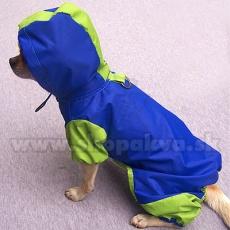 Regenmantel für Hunde - grünblau, S