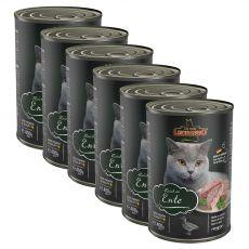Feuchtnahrung für Katzen Leonardo, Ente 6 x 400 g