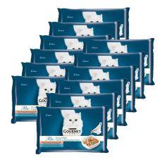Feuchtnahrung GOURMET PERLE Gravy Delight - Fisch, 12 x (4 x 85 g)