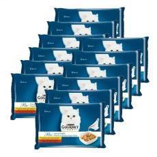 Feuchtnahrung GOURMET PERLE Gravy Delight - Rind und Huhn, 12 x (4 x 85 g)