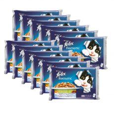 Stückchen für Katzen FELIX - Fische mit Gemüse in Gelee, 12 x 400 g