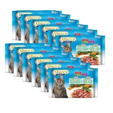 Stuzzy Cat MULTIPACK Schinken und Kalb + Kaninchen in Gelee 12 x (4 x 100 g)