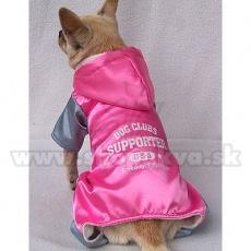 Sportlicher Overall für Hunde - pinkgrau, M