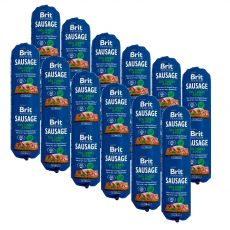BRIT Sausage Turkey & Peas 12 x 800 g