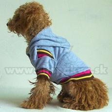 Pulli für Hunde mit Kapuze - grau, M