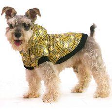 Jacke für Hunde - kariert, gelb, XL