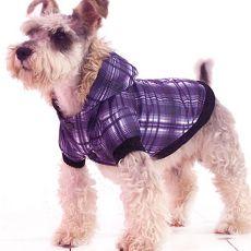 Hundejacke - kariert, violett, XL