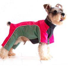 Hunde Overall - grünpink, M