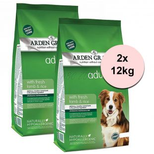 ARDEN GRANGE Adult rich in fresh lamb & rice 2 x 12 kg