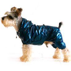 Regenmantel für Hunde zweischichtig - blauschwarz, S