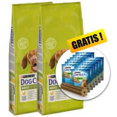 PURINA DOG CHOW ADULT Chicken 2 x 14 kg+ GESCHENK