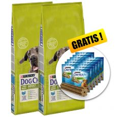PURINA DOG CHOW ADULT LARGE BREED Turkey 2 x 14 kg+ GESCHENK