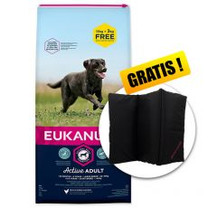 EUKANUBA ADULT Large Breed Chicken 15kg + 3kg GRATIS+ GESCHENK