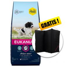 EUKANUBA ADULT MEDIUM Breed 15kg + 3kg GRATIS + GESCHENK