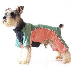 Overall für Hunde - orangegrün, S