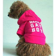 Hundepulli mit Kapuze - dunkelpink, XL