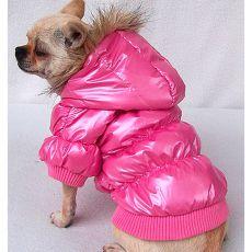 Daunenjacke für Hunde - pink, XL