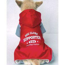 Sportlicher Hunde-Overall, rotgrau, M