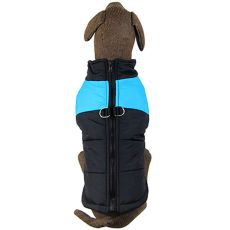 Jacke für große Hunde schwarz-blau L-XS
