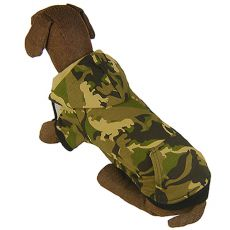 Overall für Hunde - ARMY LOOK mit Kapuze L-S