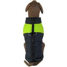 Jacke für große Hunde schwarz-grün L-XL