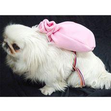 Rucksack für Hunde mit Geschirr - rosa